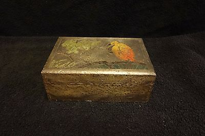 Arts And Crafts Pewter Covered Box.