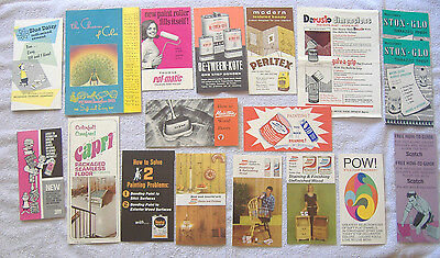 Vintage {STAINS FINISHES TEXTURE - WALLS FLOORS LEAFLET MIXED LOT} Pamphlets NR