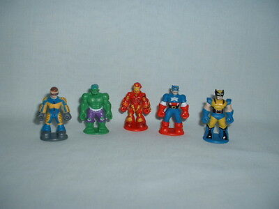 MARVEL SUPER HERO Set Of 5 Figure Toys (CAPTAIN AMERICA/IRON MAN/HULK/X-MEN)