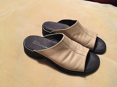 Creative Clarks Springers Womens Blue Leather Open Toe Sling Back Sandals Buckle Sz 8 Med | Whatu0026#39;s It Worth