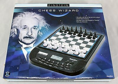 Einstein Chess Wizard Excalibur Electronics Game Model E714 Magnetic Voice Coach