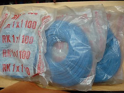 400m Draht flexibel 1mm² blau