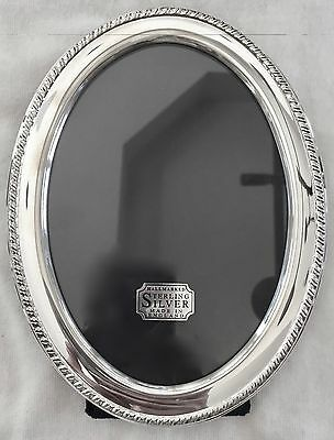 Hallmarked Sterling Silver Oval  English Picture Frame (New In Box)