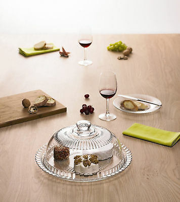 Cheese & Cake Dome Glass Display Stand 27cm Domed Dish Plate Tray w Lid