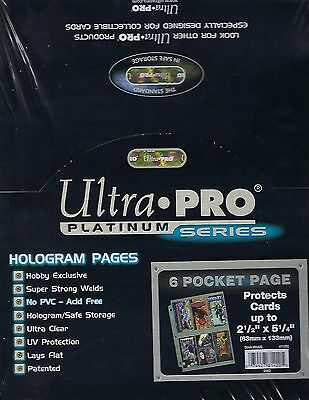 ULTRA PRO PLATINUM 100 6-POCKET Pages,New, Free Shipping
