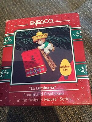 ENESCO CHRISTMAS ORNAMENT: LA LUMINARIA!  Brighten up Miguel mouse! new