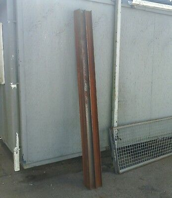 100 x 50 x 4mm pressed steel  channel  X10 @ 2.5m.,