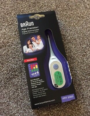 Braun Age Precision Thermometer PRT 2000 Brand New Sealed Bargain