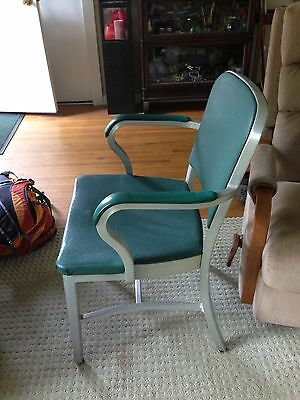 Mid Century Classic Goodform Aluminum Chair In Deep Green Color 1959