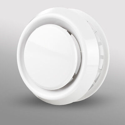 Circular Ceiling Air Vent Grill Outlet Valve Extractor Ventilation Duct White