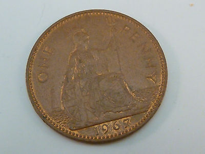 Great Britain 1967 Penny UK United Kingdom Coin British