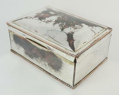 Lovely EARLY VICTORIAN OLD SHEFFIELD PLATE CIGAR BOX c1840