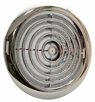 Circular Ceiling Air Vent Grill Diffuser Valve Extractor Ventilation Duct Chrome