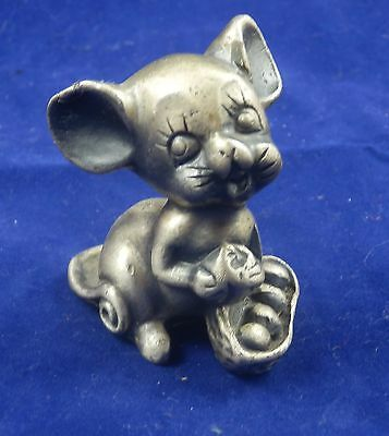 Topino Mouse in miniatura in Peltro Argentone 999 made in Italy anni '60 Vintage