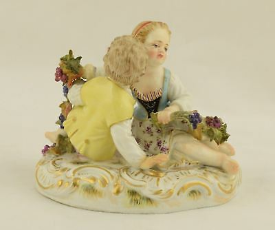Antique Porcelain Figurine Meissen - Children with Grape Vine