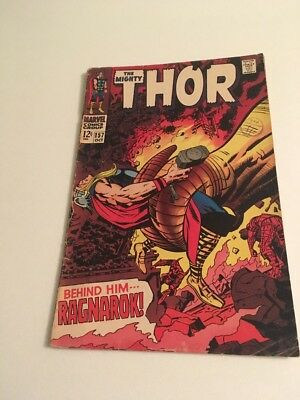 Marvel Comics - The Mighty Thor  Number 157, Behind Him... Ragnarok! (1968)