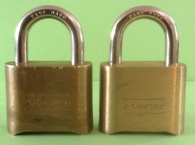 2 Brass Combination Master Locks