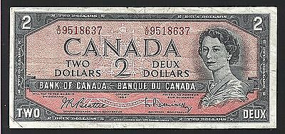 1954 Canada Two Dollar Note