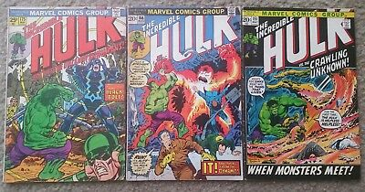 The Incredible Hulk #151, 166, 175 lot of (3) Inhumans Black Bolt Quicksilver