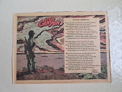 Steve Canyon 1965 Comic Strip Picture 12/26/65 - Distant Christmas