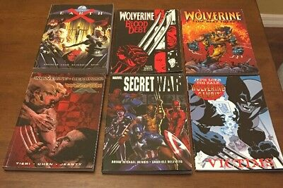 Lot Of 6 Marvel Comic Paperback Books Earth X Weapon X Wolverine MORE!