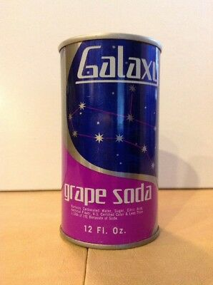 Vintage 1975 Galaxy Grape Soda Straight Steel Pull Tab soda can