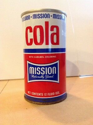 Vintage 1971 Mission Cola Straight Steel Pull Tab soda can