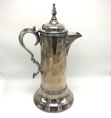 "Antique Late 19th Century ROGERS, SMITH & CO. 15"" Quadruple Silverplate Pitcher"
