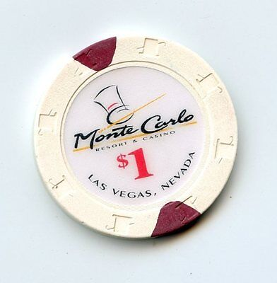 1.00 Chip from the Monte Carlo Casino in Las Vegas Nevada Large Inlay