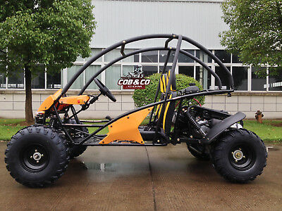 TWIN SEATER GoKart ATV REVERSE Teen|Adult Dune Buggy Semi Auto Off Road Save 200