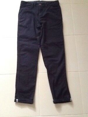 Size 12 boys black Chinos x Peter Morrissey