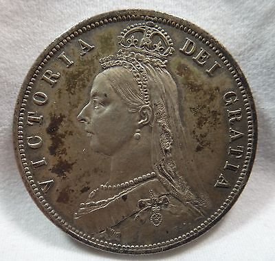 1887 Great Britain 1/2 Crown KM# 764