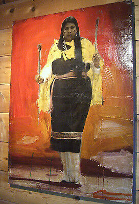 Mateo Romero Mixed Media Painting - Native American - Arrow Dancer