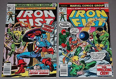 IRON FIST #11 12 Marvel Bronze Age Martial Arts Kung Fu Comic 2pc Lot Byrne