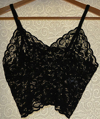 NOW Women's Stretch Lace Crop Top Camisole Intimate Lingerie Black BNWOT Size 14