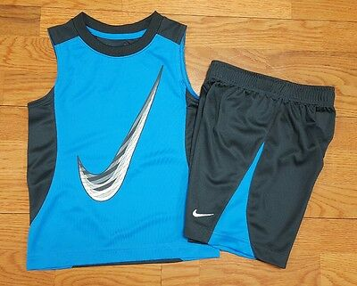 Nike Boys Size 4 (3-4 years) Sleeveless T Shirt and Shorts Outfit NWT