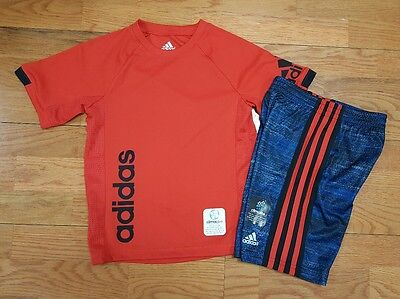 adidas Boys Size 4 NWT T Shirt and Shorts Outfit