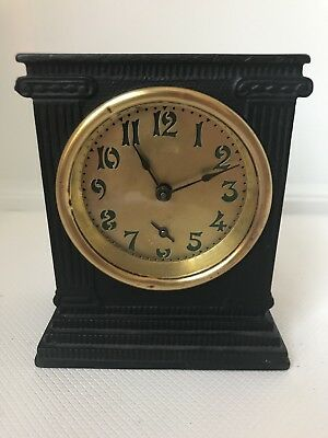 Antique Cast Iron Mantle Alarm Clock, Parts or repair