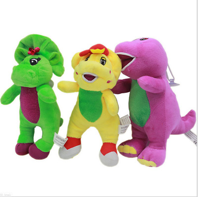 NEW Barney The Dinosaur Sing I LOVE YOU song Purple Plush Toy Doll Xmas gift