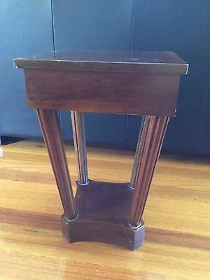 Antique wooden stool table