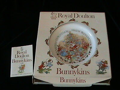 Vintage Royal Doulton Bunnykins Christmas Plate 1982- Original box!