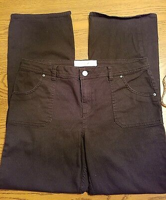 Women's Size 14 Fashion Bug Black Stretch Mid Rise Boot Cut Jeans