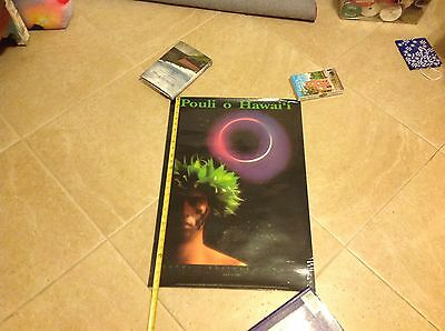 Pouli O Hawaii Poster, Total Eclipse Hawaii, July 11 1991, Vintage Poster Good