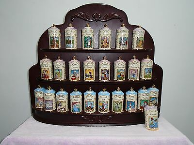 Lenox Disney Spice Rack And Jars Animated Classics 1995 Collection Salt / Pepper