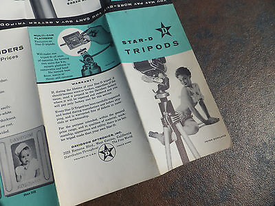 Vintage Photography Camera Brochures - Star-D Tripods - Peter Gowland