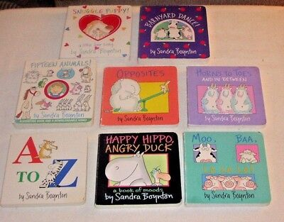 Lot of 8 Sandra Boynton Board Books Good Condition