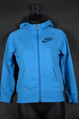 NWT $50 Nike Youth Girls Sweatshirt Hoodie 839193 407 sz S-XL blue full zip