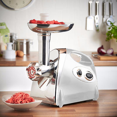 2800W Electric Meat Grinder Stainless Steel Sausage Kubbe Kit w/ Blade + Plate