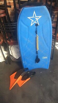 Stealth Delta Bodyboard +Fins And Cord