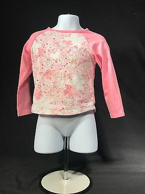 Carter's Baby Girls Long Sleeve Shirt Pink With Floral Print Size 4T EUC